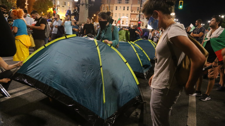 Протестът в София продължава. Към 21:15 ч. след изпълнение на