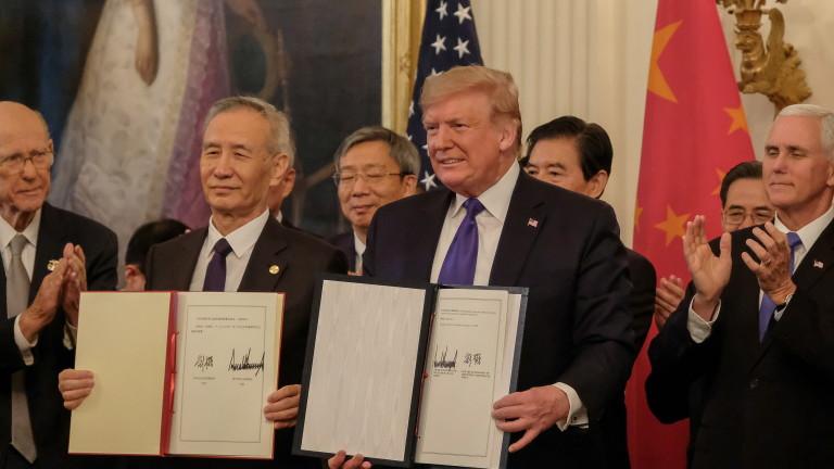 САЩ приветстват споразумението с Китай, обявяват втората му фаза