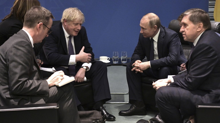 Срещата между руския президент Владимир Путин и британския премиер Борис