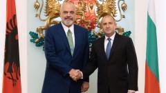 Радев потвърди пред Еди Рама оценката ни за европътя на Албания