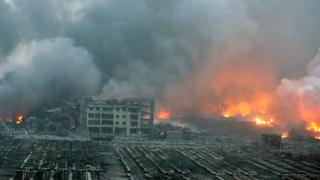 Експлозията в Китай видяна и от Космоса