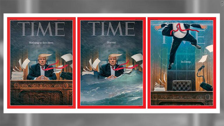 Президентът на САЩ Доналд Тръмп за пореден пътна корицата на