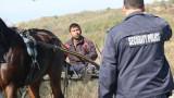Циганско състезание с каруци затвори пътя Казанлък - Черганово