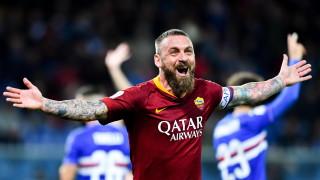 """Надеждите на Рома за Шампионска лига са живи, """"вълците"""" с важна победа над Сампдория"""