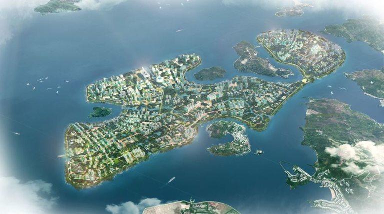 Новият жилищен район ще се намира на изкуствен остров между двата големи острова Лантау и Хонконг