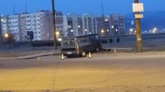 Катафалка катастрофира в Благоевград