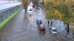 Проливен дъжд наводни Стара Загора