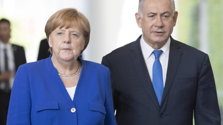 """Меркел изрази солидарност с Израел и осъди остро ракетния обстрел на """"Хамас"""""""