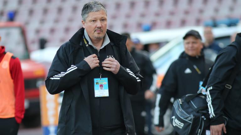Треньорът на ЦСКА Любослав Пенев изрази задоволството си от категоричната