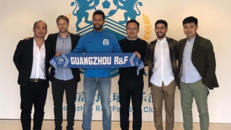 Муса Дембеле вече официално е футболист на китайскияГуанджоу R&F. 31-годишният