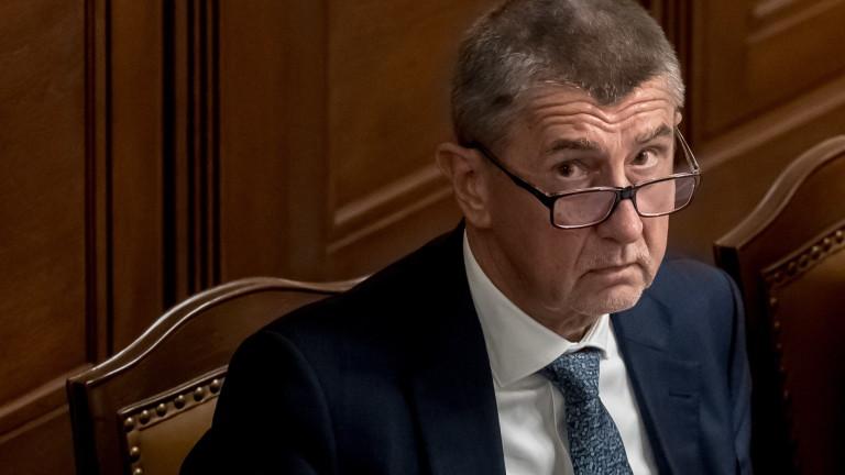 Чешкото коалиционно правителство, водено от премиера Андрей Бабиш, оцеля при