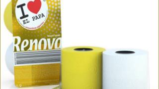 Пускат тоалетна хартия в чест на папската визита в Испания
