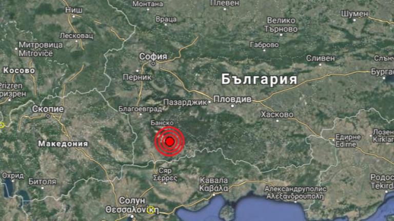 Земетресение с магнитуд от 4.1 по скалата на Рихтербеше регистрирано
