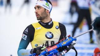 Мартен Фуркад благодари на младия руски биатлонист Карим Халили