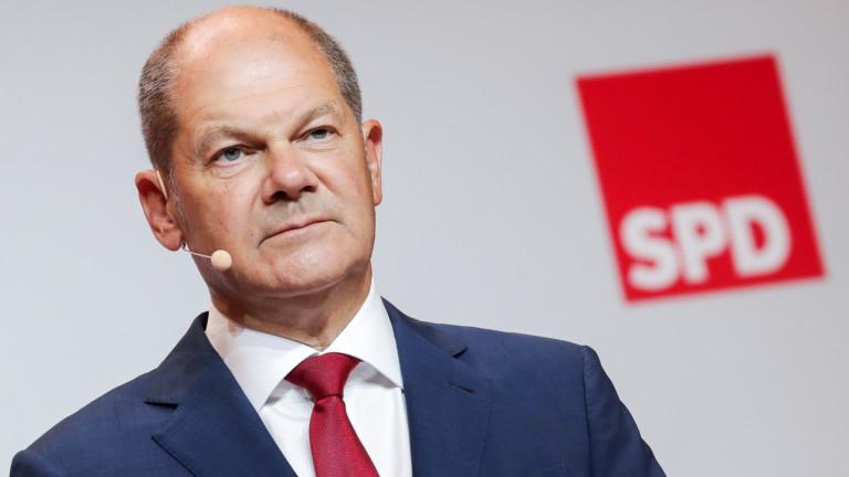 Решението на германските социалдемократи (СПД) даизберат министъра на финансите Олаф