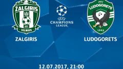 Време е за Шампионска лига: Жалгирис - Лудогорец (Развой на срещата по минути)