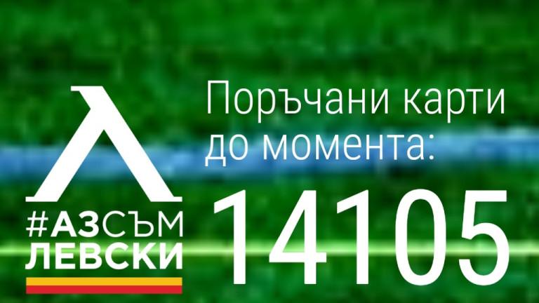 От Левски се похвалиха с над 14 хиляди поръчани членски