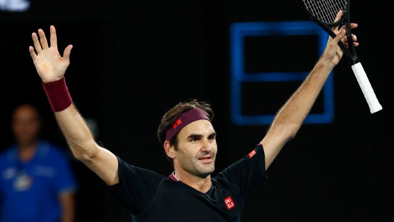 Роджър Федерер бе на косъм от отпадане, но опитът си каза думата