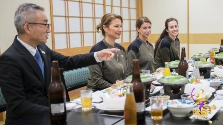 Специална вечеря за грациите ни в Япония