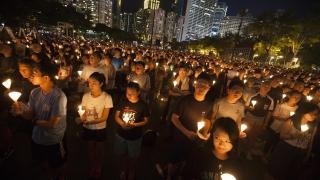 """Стотици хиляди в Хонконг отбелязаха годишнина от събитията на """"Тянанмън"""""""