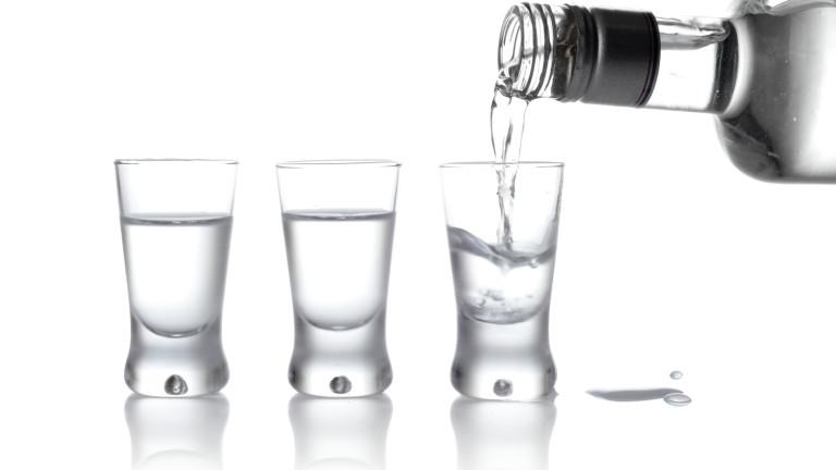 Водка, произведена в Чернобил