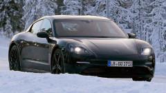 Porsche прави зимни тестове на първия си електромобил, обяви и хибрид