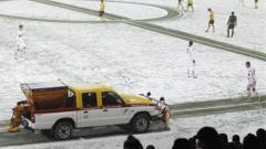 """Йънг Бойс """"помете"""" Щутгарт под снега"""