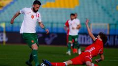България - Беларус 0:1, греда на Делев
