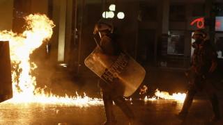 Насилие на протести в Гърция