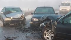 Верижна катастрофа в Казанлъшко се размина без жертви