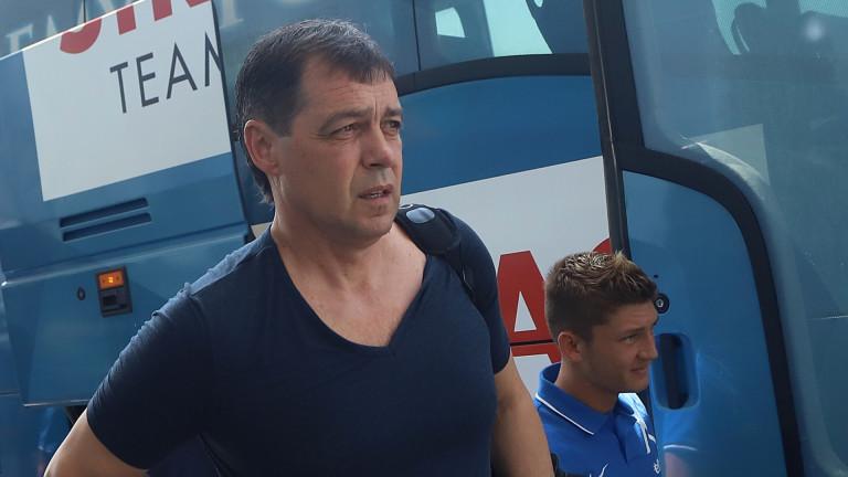 Треньорът на Левски Петър Хубчев коментира жребия на