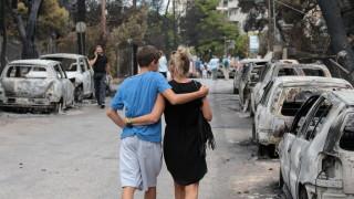 Пожарите в Гърция взеха 74 жертви, 188 са ранените