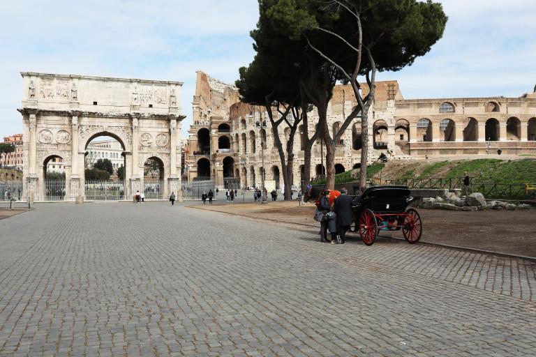 Колизеумът без тълпи от туристи