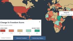 Ерозия на демокрацията и свободата в България отчита Freedom House
