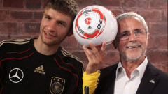 Томас Мюлер се сбогува с Герд Мюлер: Начуих много от теб, благодаря за всичко
