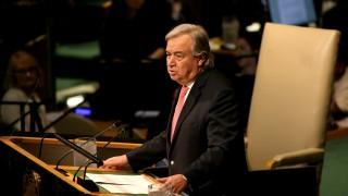 Светът се страхува от ядрена война със Северна Корея, предупреди Гутериш пред ООН