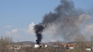Пожар и задимяване до столичното околовръстно
