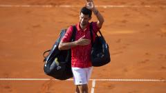 Новак Джокович няма да играе на финала на собствения си турнир