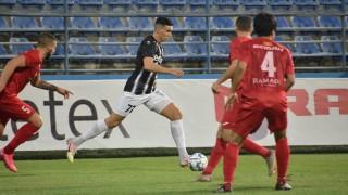 Искра - Локомотив (Пловдив) 0:1, гол на Митко Илиев от дузпа