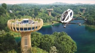 С летящо такси до ресторант във въздуха