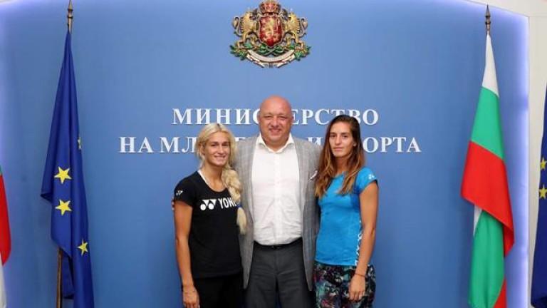Снимка: Министър Кралев ще бъде гарант за изпълнението на програмата на сестри Стоеви до Токио 2020