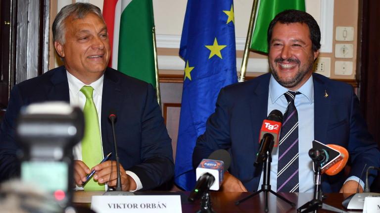 Орбан и Салвини срещу Макрон