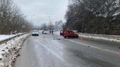 Катастрофа край Велико Търново прати мъж в болница