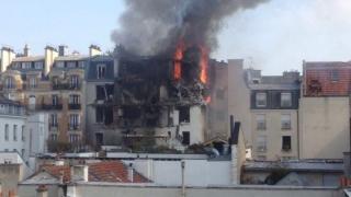 Експлозия разруши част от сграда в Париж