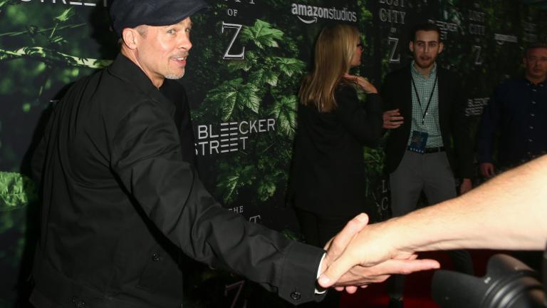"""Брад Пит изненада на премиерата на """"The Lost City Of Z"""" (СНИМКИ+ВИДЕО)"""