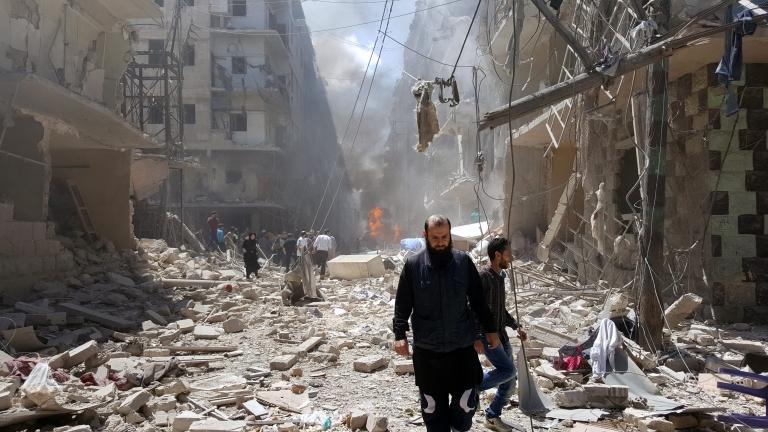 Въздушна атака уби 21 цивилни в Алепо