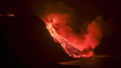 Девет дни след изригването, лава от вулкана на остров Ла Палма достигна океана