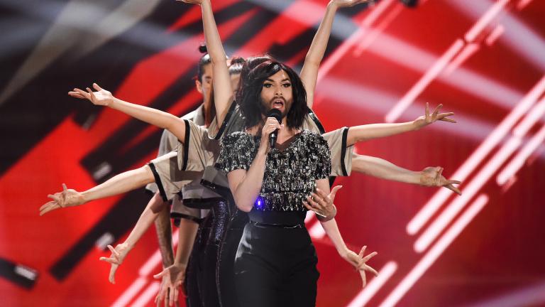 Изпълнителката, която спечели песенния конкурс Eurovision през 2014 г. направи