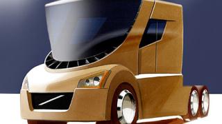 Volvo с концептуален камион, в който шофьорското място е в центъра на кабината