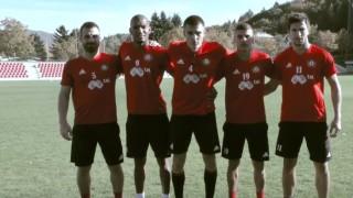 Звездите на ЦСКА взеха участие в специален клип за дербито